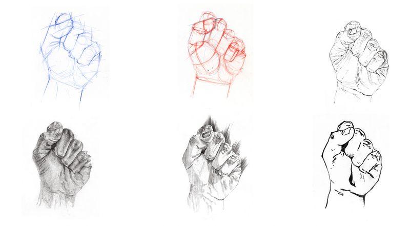 Étude de mains