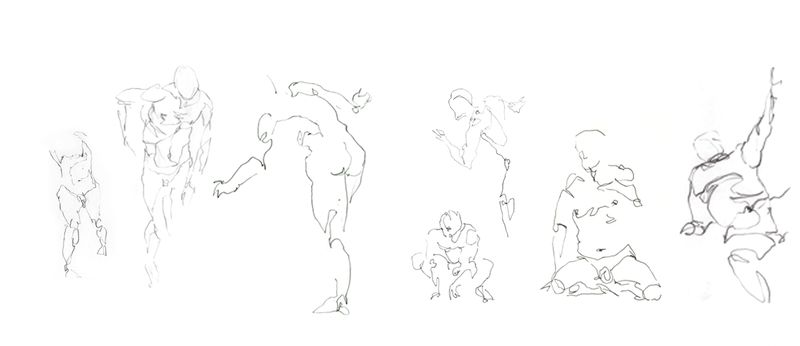 Poses en mouvement