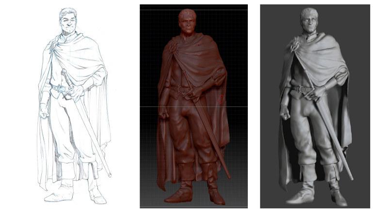 D'un modèle 2D à un volume en 3D - Zbrush